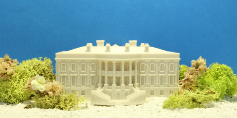 MakerBot, a leader in the desktop 3D printing industry, is proud to be a part of the #NationofMakers and the Day of Making in conjunction with the White House Maker Faire.  This 3D printed model of the White House was created and 3D printed by the MakerBot Studio in-house design team.  MakerBot can't wait to see what this Day of Making inspires in others! (Photo: Business Wire)