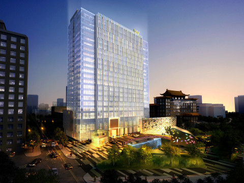Exterior rendering of the W Beijing - Chang'an (Photo: Business Wire)