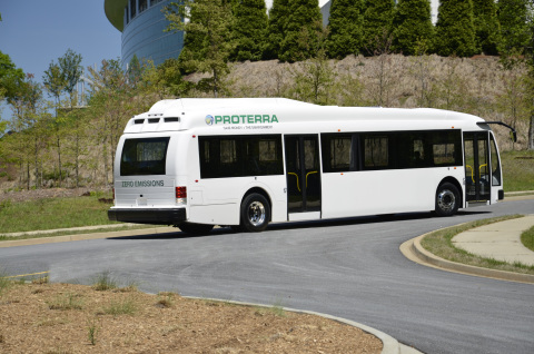 Top VC firms, auto manufacturers and energy companies are betting big on Proterra's American-made EV transit buses. (Photo: Business Wire)