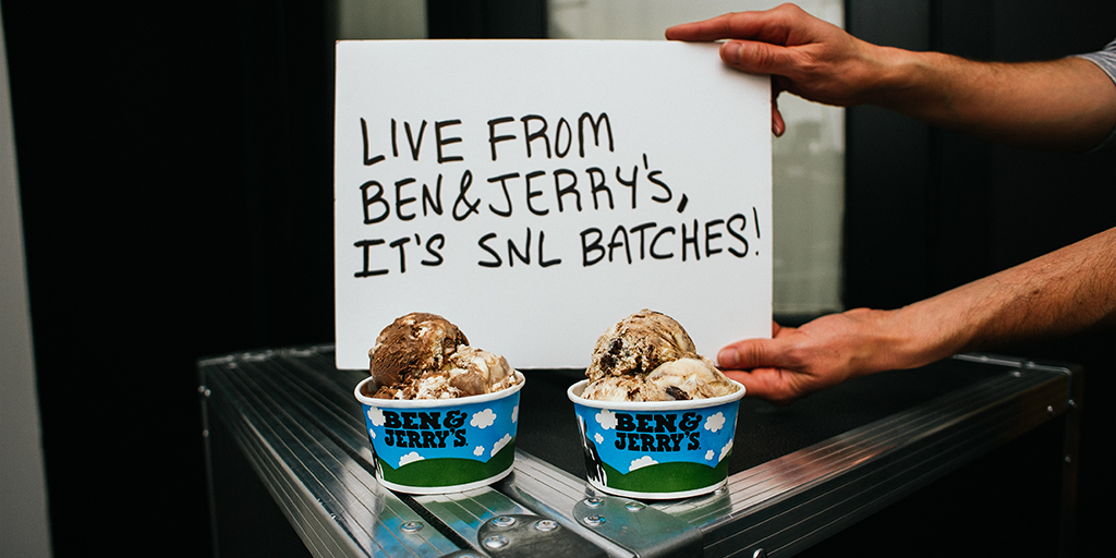 Ben & Jerry's new SNL-inspired flavors. (Photo: Business Wire)