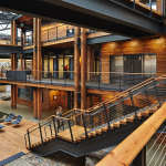 2014 Winner: Commercial Wood Design, Federal Center South - Building 1202, Seattle, WA, ZGF Architects LLP. Photo Benjamin Benschneider