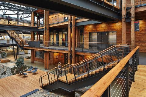 2014 Winner: Commercial Wood Design, Federal Center South - Building 1202, Seattle, WA, ZGF Architects LLP. Photo Benjamin Benschneider