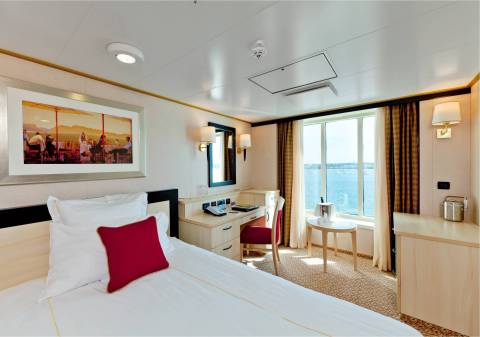 Cunard's Queen Elizabeth underwent a multi-million dollar refit that included the creation of nine new single staterooms (Photo: Business Wire)