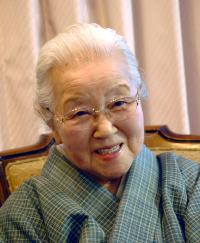 """Ms. Fukumi Shimura, an artist designated as a """"living national treasure"""" of Japan, will receive the Kyoto Prize in Arts and Philosophy for her lifetime achievements in developing the tsumugi kimono into an original art, using plant-dyed yarns and the traditional folk wisdom of """"harmonious coexistence with nature."""" (Photo: Business Wire)"""