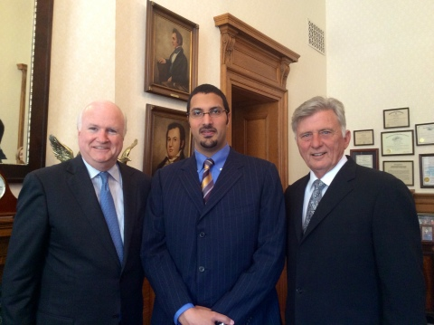 Jim Phillips, Prince Saud K. Al-Faisal and Arkansas Governor Mike Beebe (Photo: Business Wire)