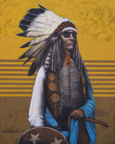 Bright Sunny Day by Patrick Dean Hubbell. Hubbell, along with Darlene Olivia McElroy will meet with visitors at La Posada de Santa Fe, a Luxury Collection Resort & Spa during the city's famous Indian and Spanish market festivals this summer.