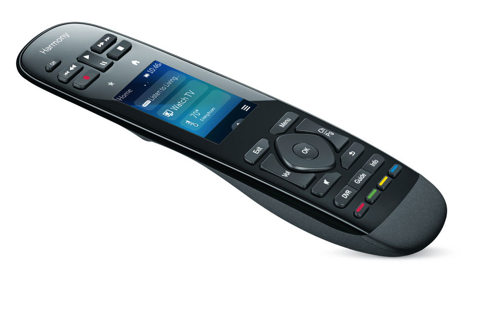 Logitech announces an update to its Harmony Ultimate remote, allowing you to view and adjust your Nest Learning Thermostat settings directly from the remote's 2.4-inch color touch-screen. (Photo: Business Wire)