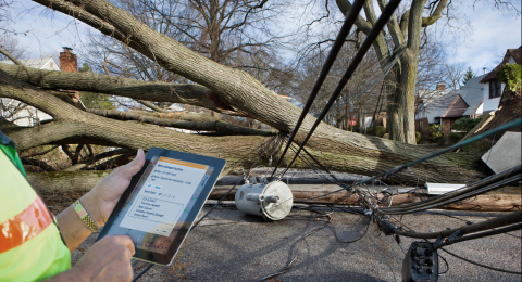 Ubisense Damage Assessment in the field (Photo: Business Wire)
