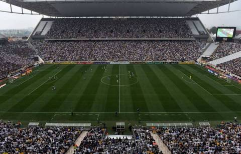 Arena de Sao Paolo, one of the stadiums at which World Cup 2014 is being played, features a turf management system from Subair Systems. (Phot