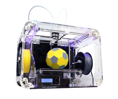 The new Airwolf 3D AW3D HD2x streamlines dual hot end printing by combining the versatility of two hot ends with the desirability of printing over 20 different materials including polycarbonate and nylon. (Photo: Business Wire)