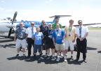 Wheels Up aircraft, flying under the call signs of Dove 111 and Dove 113, transported several athletes and their coaches for the 2014 Special Olympics USA Games this past weekend from the Trenton-Mercer Airport (TTN). (Photo: Business Wire)