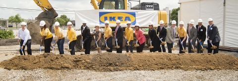 With company representatives, Missouri Secretary of State Jason Kander, St. Louis Mayor Francis Slay, local officials and community leaders on-hand, IKEA, the world's leading home furnishings retailer, today officially broke ground for its future St. Louis store scheduled to open Fall 2015.