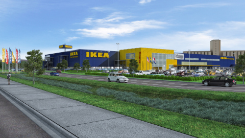 Architectural Rendering of Future IKEA St. Louis (opening Fall 2015)