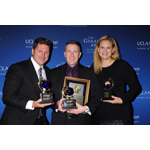 (From left) Jeff Piper, Rick Yarborough, and Tisha Thompson of WRC-TV win in the Video/Audio category at the 2014 Gerald Loeb Awards in NYC. (Photo: Business Wire)