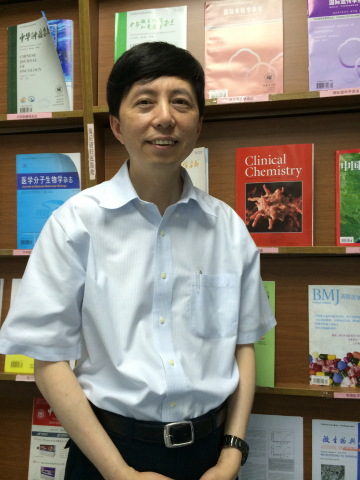 Dr. Lisong Shen, the Director of Laboratory Medicine at Xin Hua Hospital affiliated with Shanghai Ji ...