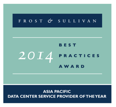 Logo: 2014 Frost & Sullivan Asia Pacific Data Center Service Provider of the Year (Graphic: Business Wire)