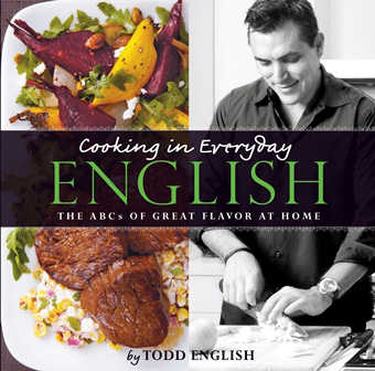 The cover of celebrity Chef Todd English's cookbook, copies of which he will sign for guests during Queen Mary 2's Independence Day Celebration cruise departing New York on 1 July (Graphic: Business Wire)