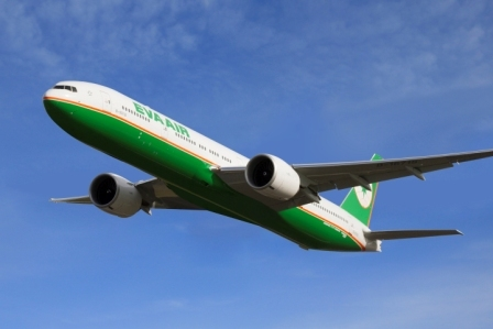 EVA Air is using its third of three brand-new Boeing 777-300ERs to increase San Francisco frequency to 14 flights a week and Los Angeles to 21. At the same time, it is continuing to introduce passengers in every class of service to inflight Wi-Fi and short-message roaming. (Photo: Business Wire)