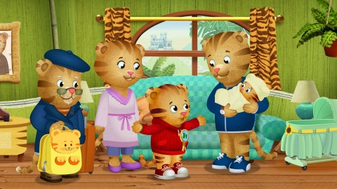 Season 2 of Daniel Tiger's Neighborhood kicks off Monday, August 18, on PBS KIDS with a special one-hour premiere celebrating the arrival of a new addition to the Tiger Family: Daniel Tiger's little sister Margaret. Image Credit: Daniel Tiger's Neighborhood © 2014 The Fred Rogers Company.