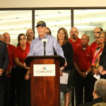 "Governor Rick Scott announced today that Comcast is expanding its customer service ""Center of Excellence"" in Fort Myers, where the company plans to hire 200 new customer service agents and 20 leadership positions by the end of the year. This growth will expand the customer-dedicated ""Center of Excellence"" and Call Center facility to more than 400 employees who will be dedicated to taking care of Comcast customers living in bulk communities. (Photo: Business Wire)"