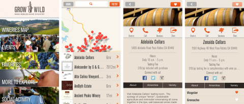 Screenshot of the PasoWineApp (Photo: Business Wire)