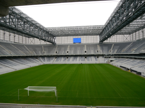 Panasonic's LED systems at Arena de Baixada (Photo: Business Wire)