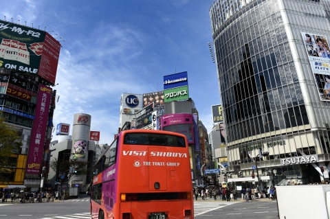 VISIT SHIBUYA BUS (Photo: Tokyu Corporation)