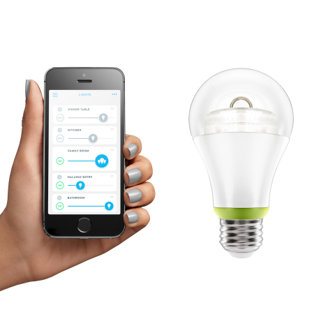 The new GE Link connected LED 60-watt replacement (A19) bulb, enabled by the new Wink app, lets cons ...