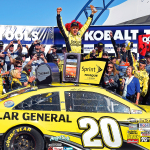 Matt Kenseth in victory circle at the 2013 NASCAR Sprint Cup Kobalt Tools 400 (Photo: Business Wire)