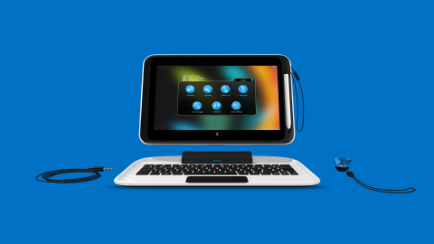 """Panasonic, a leader in holistic technology solutions for the education market, today announced it has collaborated with Intel and Microsoft Corp. to deliver a purpose-built mobile computing solution for the K-12 education market. The 2-in-1 convertible device, the 3E (""""Engage, Empower, Enable""""), features a tablet that comes with a detachable keyboard to deliver laptop capabilities and aims to engage students, empower teachers, and enable IT. (Photo: Business Wire)"""