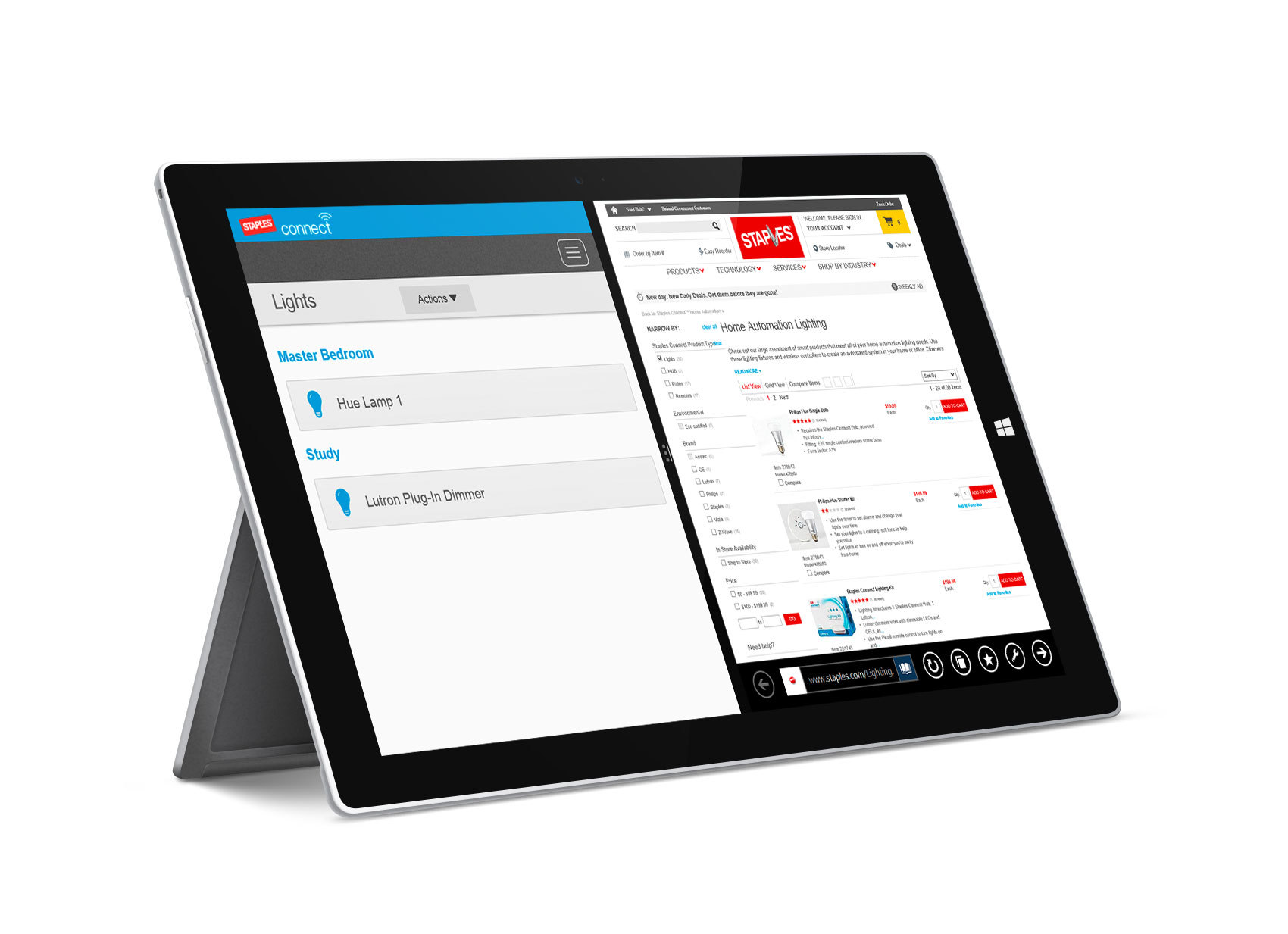 Powered by software from smart home technology company Zonoff, Staples Connect has the most supported App platforms in the industry, now including Windows 8. (Photo: Business Wire)