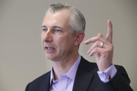 Staples' VP of Business Development Brian Coupland announces Staples Connect's expansion at event he ...