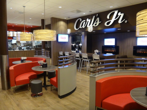 CKE Restaurants Holdings, Inc. takes a modern approach to interior and exterior design with its Carl's Jr. and Hardee's restaurants, as can be seen in the contemporary style of this Carl's Jr. location in Denmark. (Photo: Business Wire)