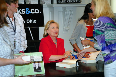 Books & Co., a Books-A-Million company, welcomed former U.S. Secretary of State Hillary Clinton to its store in Dayton, Ohio, to sign copies of her new book, 'Hard Choices.' (Photo: Business Wire)