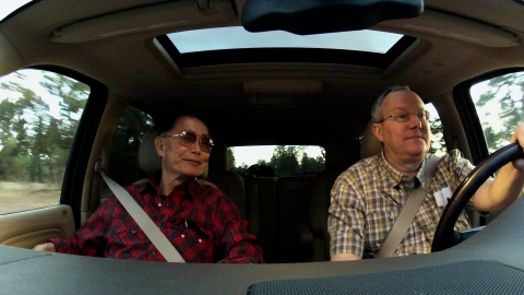 """Star Trek"" alum George Takei and partner Brad Takei embarking on their many travels for the social media phenomenon's speaking engagements (Photo: Business Wire)"