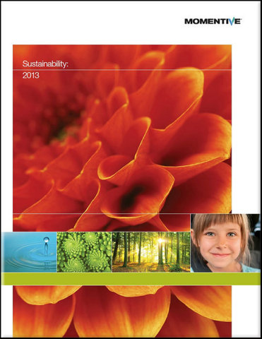 Cover of Momentive's 2013 Sustainability Report. (Graphic: Business Wire)
