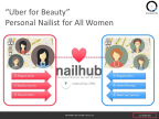 "The application ""nailhub"" offers a service through which the users can reserve  their personal nail technician with just a few taps of their mobiles. (Graphic: Business Wire)"