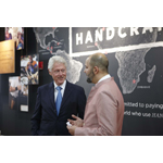 President Bill Clinton with West Elm President Jim Brett at the West Elm Headquarters in Brooklyn, New York (Photo: Business Wire)