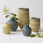 Linework Vases by Asia Ceramics for West Elm. Hand-thrown and crafted of terracotta, the Linework Vases are embellished with intricate etched designs and made in the Philippines exclusively for West Elm. (Photo: Business Wire)