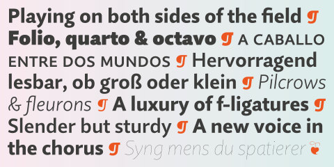 Monotype's newest typeface is the 20-font Quire Sans family created by Jim Ford of the Monotype Studio. Ford looked to orchestrate the interplay between the rich typographic details of historic book publishing typefaces with the modern styling of designs for electronic media. (Graphic: Business Wire)