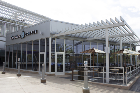 Caribou Coffee recently welcomed a new store in downtown Minneapolis near Target Field, at the newly expanded Target Field Station (Photo: Business Wire).