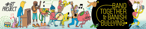 Band Together to Banish Bullying http://bit.ly/BTProject (Graphic: Business Wire)