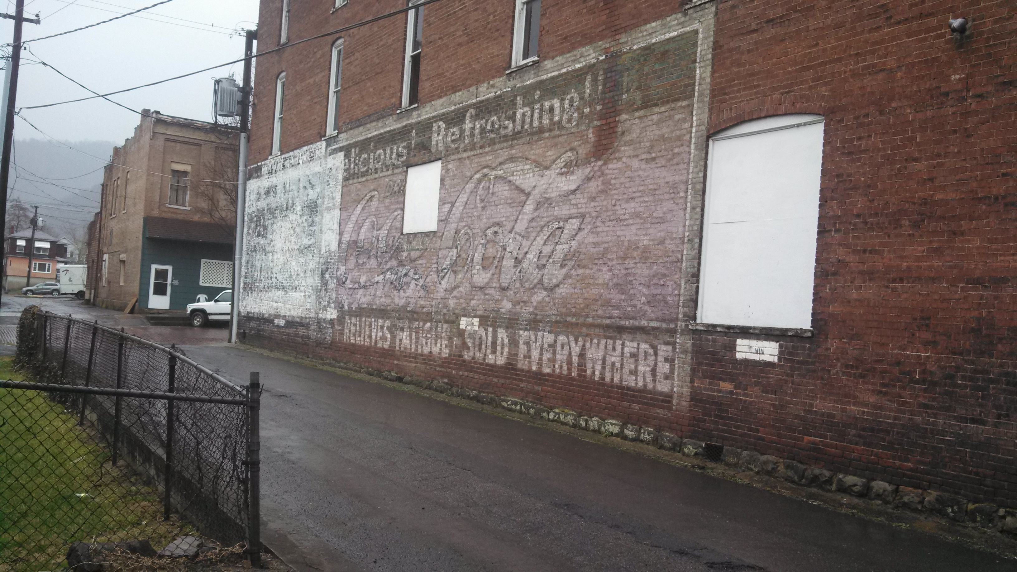 Ghost sign in Hinton, WV