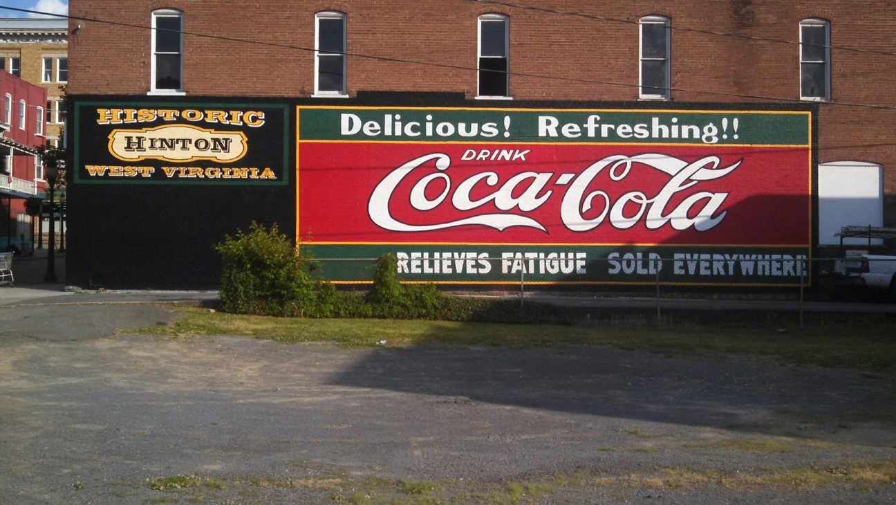 Ghost sign after restoration in Hinton, WV