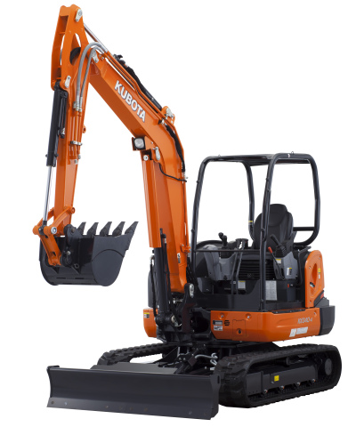 The optional Hydraulic 6-in-1 Blade for Kubota's KX040-4 Compact Excavator is now available at authorized Kubota dealerships nationwide. Loaded with performance enhancing features such as a load-sensing hydraulic system, the blade is perfectly matched for speed balance, power balance and outstanding digging force. (Photo: Business Wire)