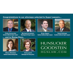 Hunsucker Goodstein Attorneys Named Super Lawyers (Graphic: Business Wire)