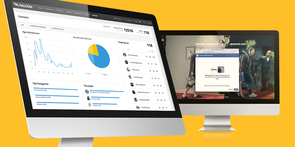 Connect matches social profiles with online behavior, making Falcon the only platform of its kind to offer visibility into a customer's entire lifecycle. (Photo: Business Wire)