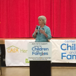 "Norman, Oklahoma Mayor Cindy Rosenthal speaks at a special event announcing the Herbalife Family Foundation's $25,000 donation to the Center for Children and Families (CCFI), a non-profit organization committed to helping vulnerable children in Oklahoma. Mayor Rosenthal said, ""We're really grateful to the Herbalife Family Foundation for their donation here today. As CCFI looks to build out their new facility, we are confident that this donation will help bring health and wellness to Norman and surrounding communities."" (Photo: Business Wire)"