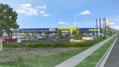 IKEA, the world's leading home furnishings retailer, today announced it is submitting plans to the City of Renton, Washington for a new and updated building to replace its current store as the Swedish retailer's Seattle-area presence (Photo: Business Wire)