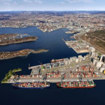 Illustration for the new container terminal at Sjursøya in Oslo. (Photo: Business Wire)